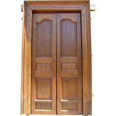 This beautiful, antique doorway was found in India. It features deeply carved, fielded panels and has been recently refinished. It comes complete with Wooden Main Door Design, Double Door Design, Entrance Doors, Doorway, Main Entrance, Front Doors, Latest Door Designs, Garden Doors, Teak Wood