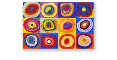 Artist study with the Solar System - Kandinsky Circles mural