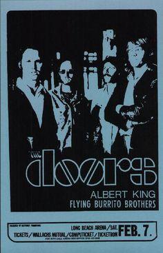The Doors with Jim Morrison Concert Handbill Reprint, 1970