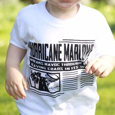 Personalised Headline Hurricane Short Sleeved T-Shirt from marloweville