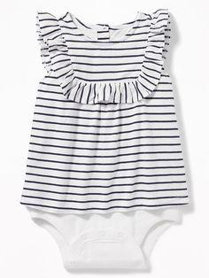 2-in-1 Sleeveless Ruffle-Trim Bodysuit for Baby