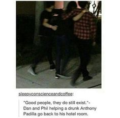 Dan & Phil Helping Anthony--this is so cool, though, shows their amazing friendship :)