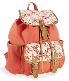 Floral Crochet Rucksack from Aeropostale