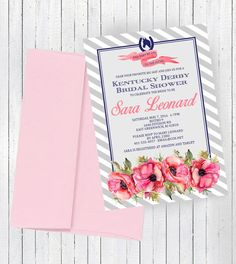 Kentucky Derby Theme Bridal Shower Invitation EACH WITH ENVELOPES