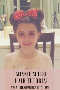 Easy Minnie Mouse hair tutorial that looks adorable and is perfect for that special Disney trip! Easy Minnie Mouse hair tutorial that looks adorable and is perfect for that special Disney trip! Crazy Hair For Kids, Crazy Hair Day At School, Crazy Hair Days, Disfraz Minnie Mouse, Minnie Mouse Costume, Disney Hairstyles, Princess Hairstyles, Girl Haircuts, Little Girl Hairstyles