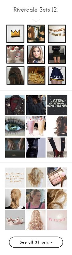 """""""Riverdale Sets [2]"""" by demiwitch-of-mischief on Polyvore featuring art, Topshop, Converse, Chan Luu, Madewell, Simplex Apparel, H&M, Dr. Martens, Eddie Borgo and Alexander McQueen"""