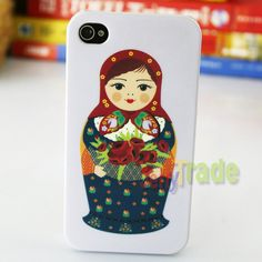 Russian Doll Design Hard Back Skin Case Cover for iPhone 4 4G 4S