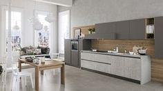 cucina lineare moderna | Cucina | Pinterest | Kitchens, Kitchen ...
