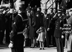 JFK Jr. Salutes His Father's Coffin  A split second moment is all Dan Farrell had to take this iconic shot of JFK's funeral procession. It would be this moment that would be immortalized as a portrait of the shock and confusion following the assassination of John F Kennedy. brainjet.com