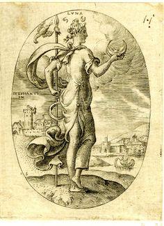 """Luna"" by Etienne Delaune 1576"