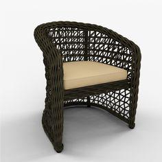 dining arm chair 3d model 3d model