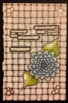 """I created this piece of art on a page from a 1970 copy of """"Walden"""". I isolated text to create my found poem and then tangled the page with Zentangle Inspired patterns. The dimensions are 8.25""""x 5.25"""". I used an archival ink pen, pencil, colored pencil, archival white gel pen, and white charcoal. This is one of a kind and will not be used for prints. The found poem reads:I wished to live deliberatelyto learn what it had to teachI came to discover that ..."""