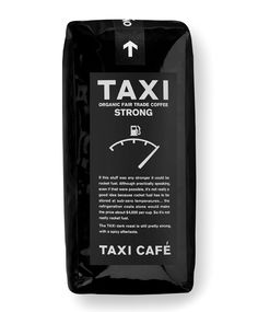 Taxi Coffee #flexo #packaging #design