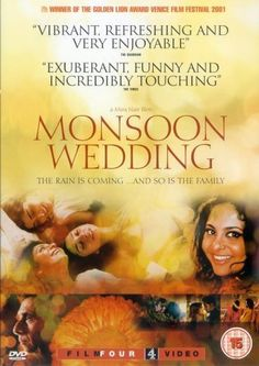 Monsoon Wedding (by Mira Nair) - first ever bollywood film i've seen Great Films, Good Movies, Mira Nair, Monsoon Wedding, Bollywood, Wedding Movies, Wedding Set, Foreign Movies, Movies Worth Watching