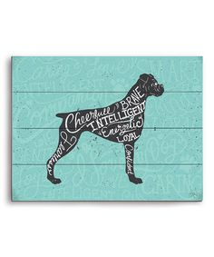 Loving this Boxer Typography Wall Art on #zulily! #zulilyfinds