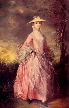 Thomas Gainsborough Paintings-Mary, Countess of Howe, 1764
