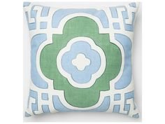 Loloi Rugs 18'' Square Light Blue & Green Pillow (Sold in 4)