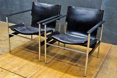 Vintage Black Knoll Pollack Sling Chairs : 20th Century Vintage Furnishings & Design