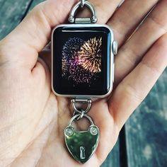 Necklace? Apple Watch? Yes. Meet the Bucardo Heartlock Charm Necklace for the Apple Watch. bucardo.com