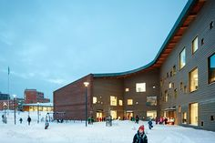Completed last fall in Espoo, Finland: Saunalahti comprehensive school by…