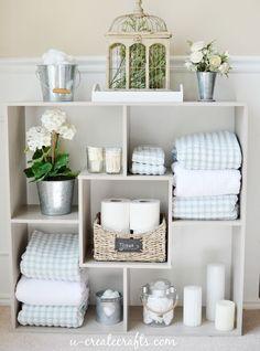 Ideas for Bathroom Shelves #PutItTogether #DIY @sauderusa