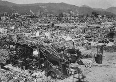 Japan: Photos of the devastated cities of Hiroshima and Nagasaki after US atomic bombs Nagasaki, Hiroshima Japan, World History, World War Ii, Tinian Island, Hiroshima Peace Memorial, Hiroshima Bombing, Enola Gay, Learn Japanese Words