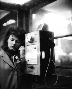 Paul Almasy - The girl at the phone - Paris 1960s