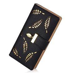 e257738fa5f1e Women s Long Leather Card Holder Purse Zipper Buckle Elegant Clutch Wallet  Kleine Geldbeutel