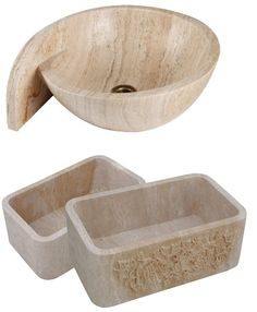 Shop a large variety of unique marble, travertine, limestone and onyx bathroom vessel sinks. Largest suppliers of unique natural stone vessel sinks in Houston, Texas Vessel Sink Bathroom, Sinks, Stone Sink, Travertine, Powder Room, Natural Stones, Decorative Bowls, Design, Home Decor