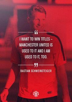 Manchester United on Manchester Fc, Manchester United Players, Bastian Schweinsteiger, Sport Quotes, Soccer Quotes, Soccer Poster, Sexy Girl, Sports Stars, Man United