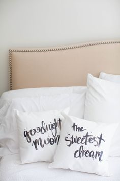 DIY: calligraphy pillows