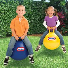 This Little Tikes Hopper will provide hours of fun and exercise for kids four years old and up. This durable vinyl hopper features a safe and a recessed re-inflatable valve. Also helps build coordination skills.<b>One color selected at random by warehouse during time of shipment.</b>
