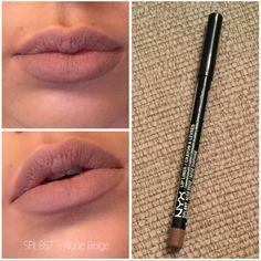 NYX Lip Pencil - Nude Beige