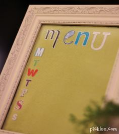 diy funky little home menu, cute idea I just might have to make one :)