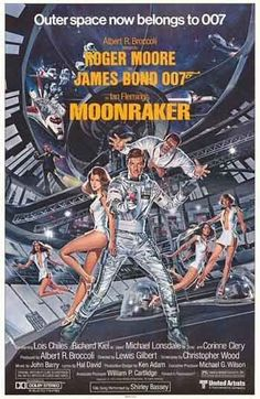 MOONRAKER - 1979 original 22x28 ROLLED Half-Sheet Movie Poster - JAMES BOND