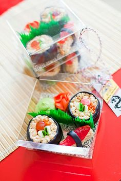 I love this candy sushi from a Ninjago Themed Party found via KarasPartyIdeas.com!
