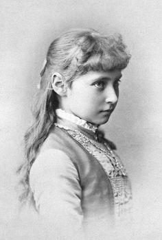 Empress Alexandra Feodorovna, then Princess Alix of Hesse, in 1881