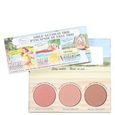 Paleta the Balm Girls Getaway Trio The Balm Blush, Blushes, Beauty Makeup, Hair Beauty, Makeup Items, Makeup Products, Girls Getaway, Cruelty Free, Makeup Looks