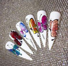 Butterfly Nail Art, Super Cute Nails, Nail Wraps, Love Nails, Short Nails, Nail Inspo, Swag Nails, Nail Art Designs, Designed Nails