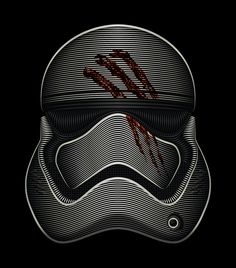 Star Wars - Stormtrooper FN-2187 Art Print by Nathan Owens