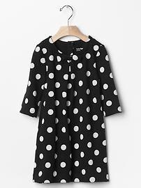 Dot bow pleat dress