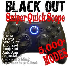 BLACK OPS 2 RAPID FIRE Modded Xbox 360 Controller quick scope Halo MW3 Jitter T #Microsoft                                        Hey does this brings it with 5k mods? Or modes and does it bring it with a menu? Like a paper menu