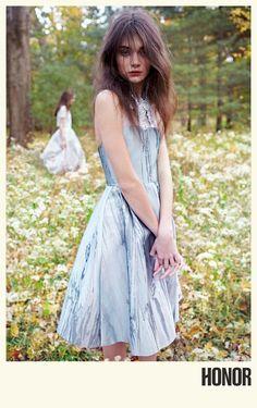 Designer Giovanna Randall's designs for Honor's spring-summer 2014 campaign featuring #Ukrainian #model Antonina Vasylchenko; photography by Yelena Yemchuk (2b Management); styled by Leith Clark