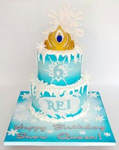 Snow frozen cake