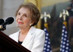 Here's how U.S. and world political leaders are reacting to the death of former U.S. first lady Nancy Reagan:  [...] we had a head start, because we were fortunate to benefit from her proud example, and her warm and generous advice.  Later, in her long goodbye with President Reagan, she became a voice on behalf of millions of families going through the depleting, aching reality of Alzheimer's, and took on a new role, as advocate, on behalf of treatments that hold the potential and the…