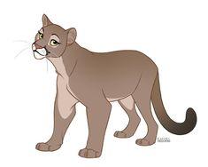 Cougar by faithandfreedom on DeviantArt Cute Animal Drawings, Animal Sketches, Cartoon Drawings, Cute Drawings, Big Cats Art, Furry Art, Anime Animals, Cute Animals, Character Art