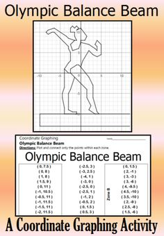 Celebrate the 2016 Summer Olympics with this awesome coordinate graphing activity. Students are given a list of coordinate points to connect. They should connect the points only within the designated zones. When they are done, they will have a picture of an Olympic Gymnast on the Balance Beam.