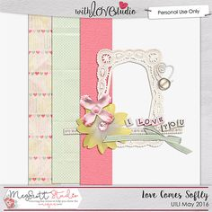 May 2016 Use It or Lose It digital scrapbooking challenge at With Love Studio.