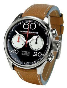 3635a3b417d Alexander Shorokhoff Avantgarde Automatic Chrono Watch CA05   AlexanderShorokhoff Relógios Masculinos