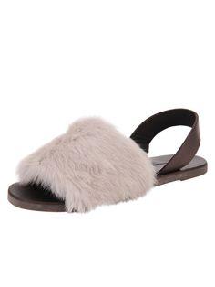 Fur Sandals